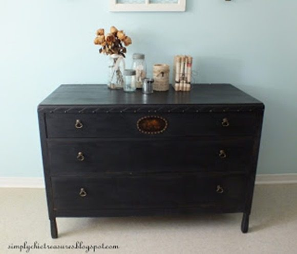 pretty {black} dresser makeover