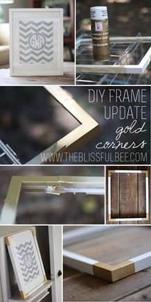 update an old frame with a touch of gold