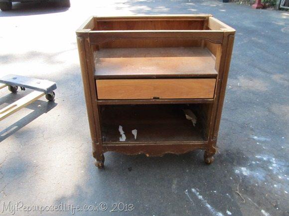 repurposed nightstand play kitchen
