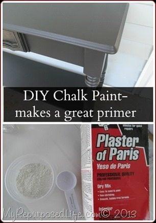 DIY Chalk Paint As A Primer - Plaster of paris chalk paint