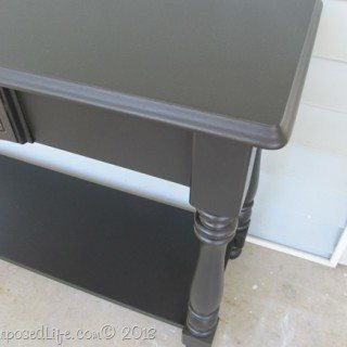 Black Sofa Table-Easy Makeover