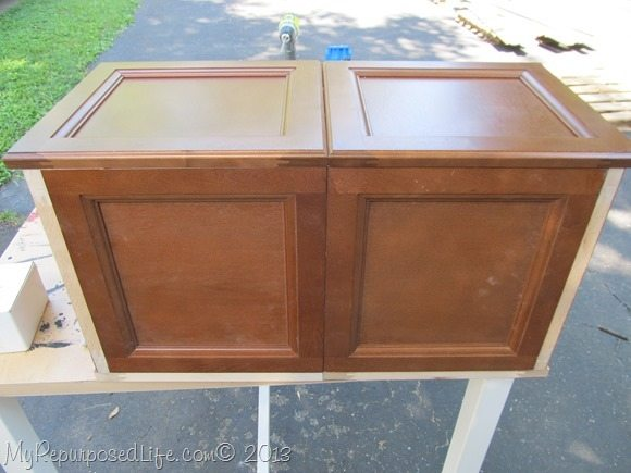 box with cabinet doors
