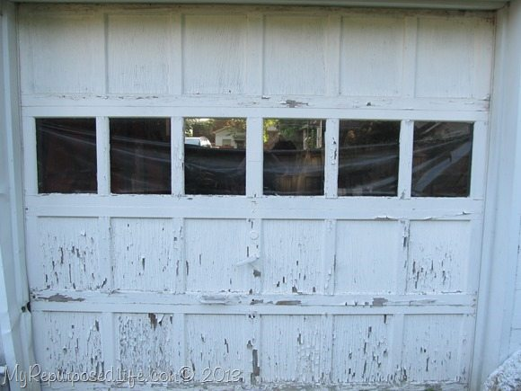 Chippy garage door with lead paint my repurposed life chippy weathered door solutioingenieria Images