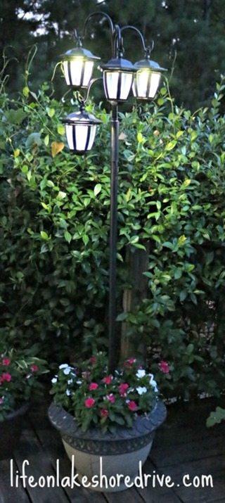 diy solar light post