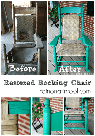 family heirloom rocker before and after