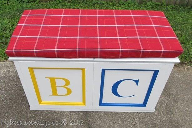 faux abc block toy box
