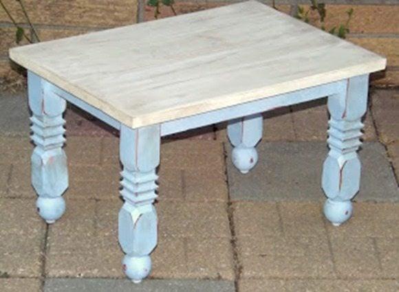 little blue stool
