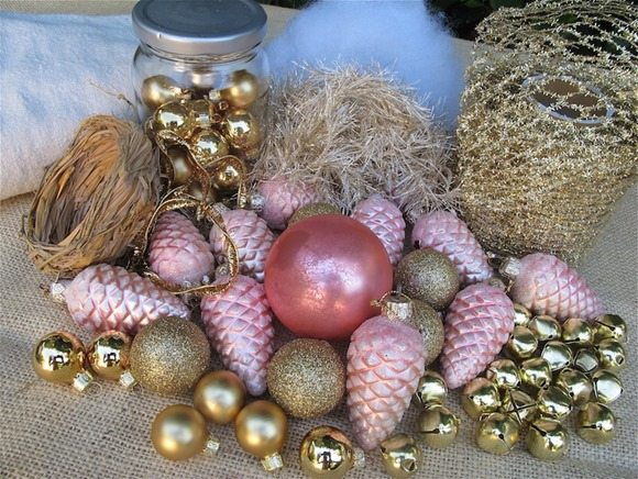 ornaments-decorations for tomato cage tree