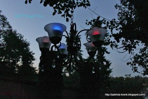 solar light outdoor chandelier