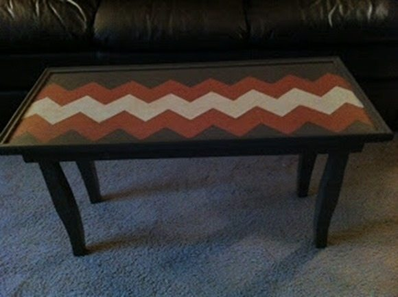 table made from a cabinet door