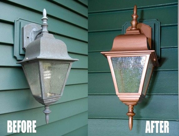 thrifty light makeover with paint