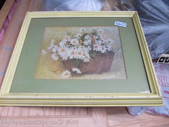 yellow frame with mat