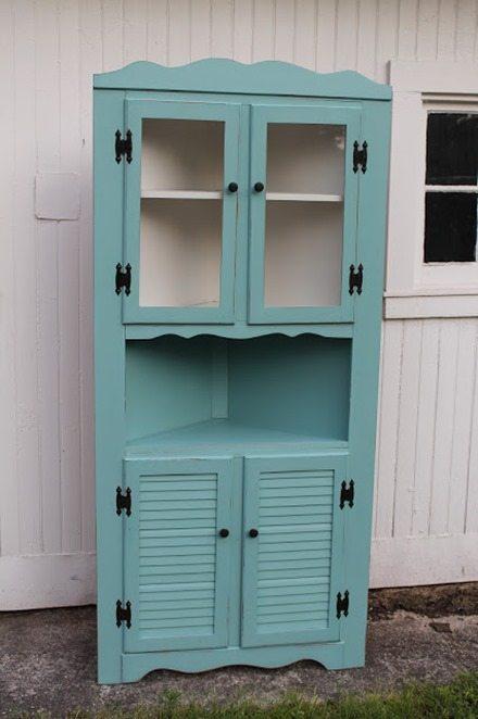 aqua corner cabinet