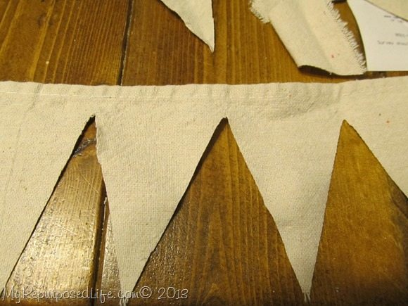 no sew drop cloth bunting