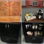 Coffee Bar from Repurposed Radio Cabinet