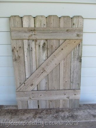 Rustic Fence As Mantel Decor