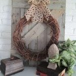 rustic fence mantel decor
