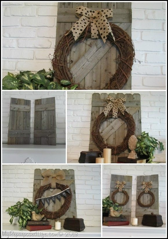 rustic fence mantel decor ideas