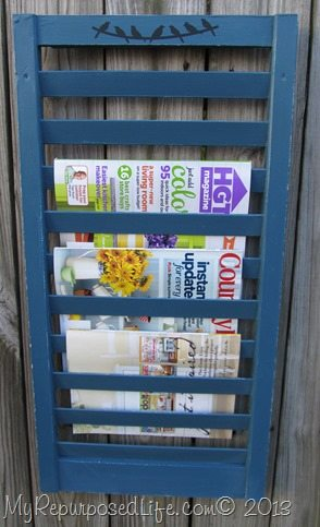 This article will tell you how easy it is to use Annie Sloan Chalk Paint in a Finish Max paint sprayer. Spraying furniture projects is the best! Fun shutter magazine rack and more! #MyRepurposedLife #ascp #paintsprayer #finishMax #shutter #repurposed via @repurposedlife