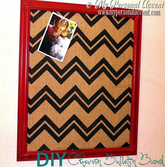 DIY-Chevron-Bulletin-board