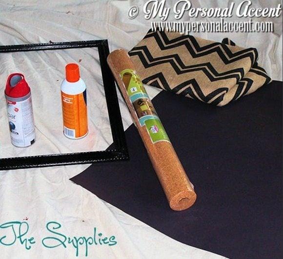 DIY-Chevron-bulletin-board-supplies