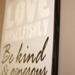 DIY Wall Art {family rules}