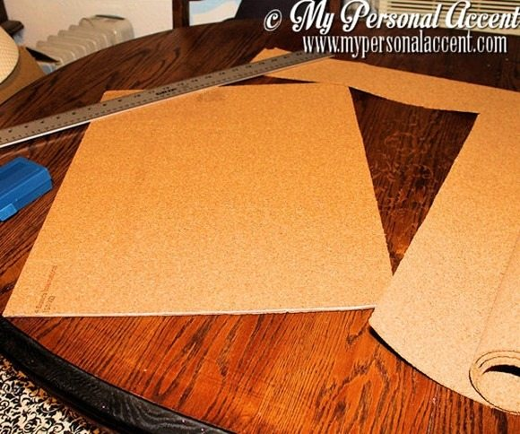 cut-cork-board-DIY-chevron-bulletin-board
