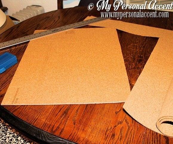 cut-cork-board-DIY-chevron-bulletin-board