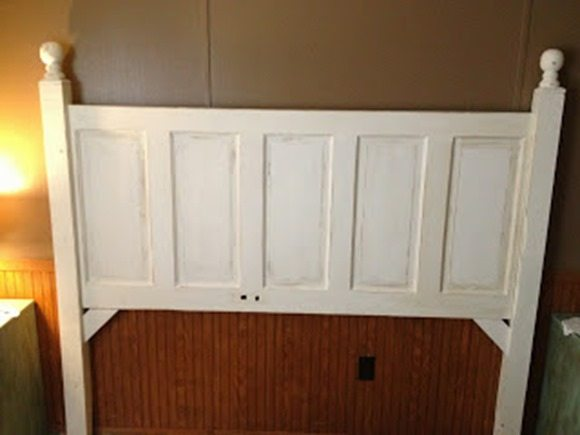 how to make a headboard from a door