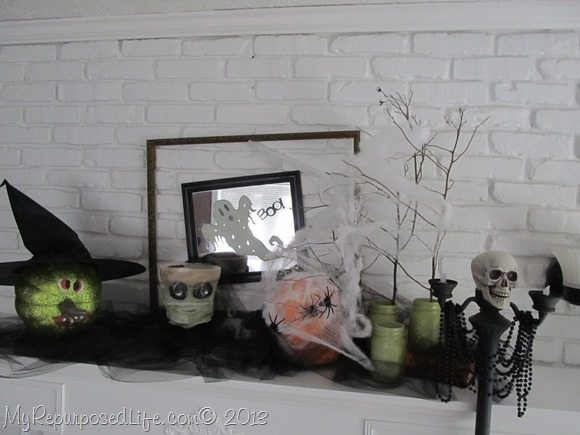 haloween-mantel