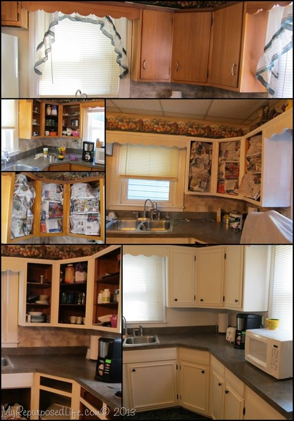 How To Update Old Kitchen Cabinets With Trim And Paint