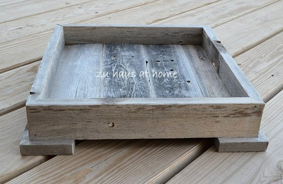 how to make a small tray from reclaimed wood