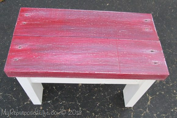 red-2x4-bench-stool