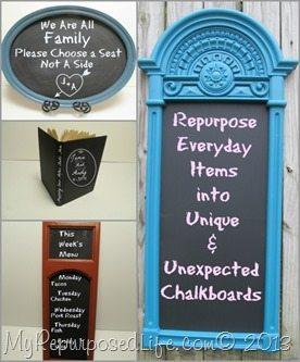 Unique Chalkboard Ideas My Repurposed Life