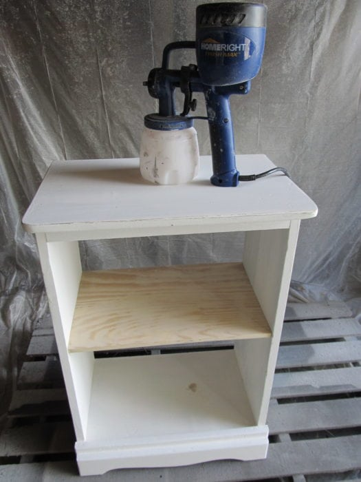 finish max paints upcycled nightstand