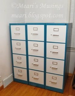bicolor filing cabinets