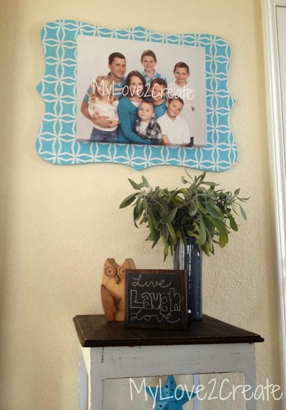 cut out frame for family canvas