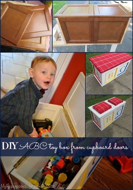 how to make a toy box from cupboard doors