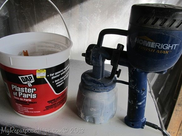 using DIY Chalk Paint in a paint sprayer