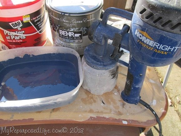 plaster of paris chalk paint as a primer