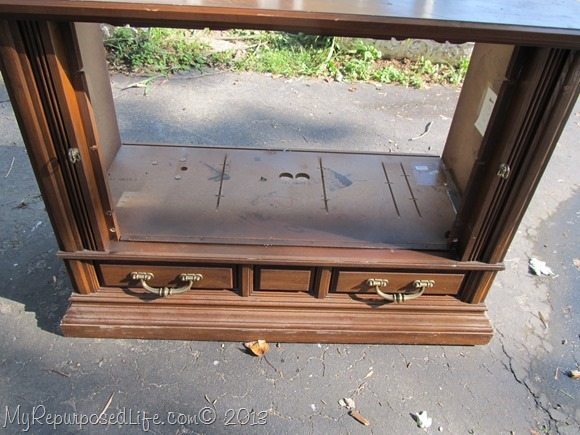 Repurposed tv Console - My Repurposed Life®