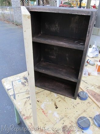 black wall cabinet