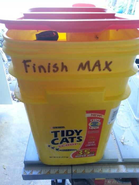 use a kitty litter box for storing supplies
