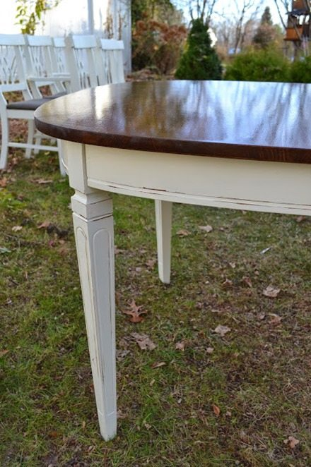 white-stained-dining-table