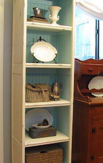 repurposed bifold doors bookcase