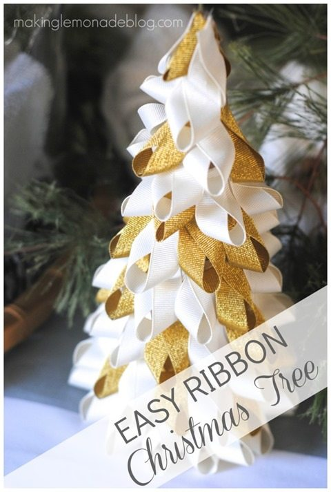 easy ribbon Christmas tree