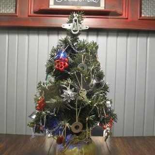 DIY Hardware Christmas Tree Decor