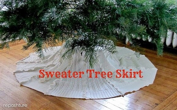 sweater tree skirt