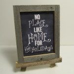 Chalkboard Printables and Rustic Frame
