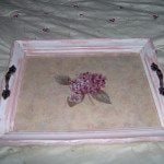 tray made from vintage picture frame